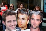 Giant Rob heads hanging in line (Photo by Suzie)